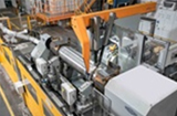 First roll grinding machine using CBN abrasives